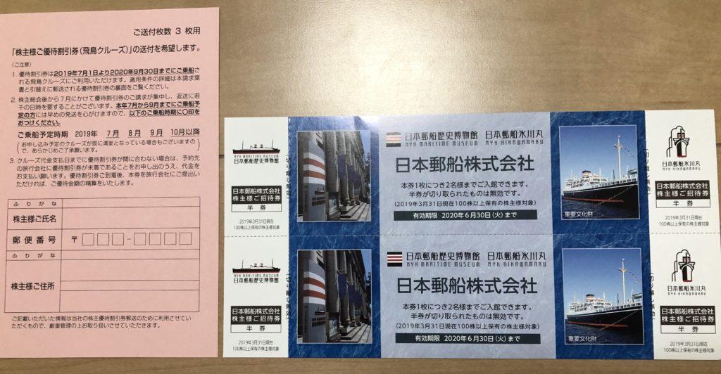 日本郵船の優待商品